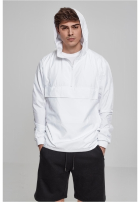 Jacheta Pulover Basic alb