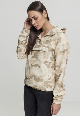Jacheta Pulover Camo pentru Femei nisip-camuflaj Urban Classics