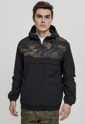 Jacheta Pulover doua culori Camo negru-camuflaj Urban Classics