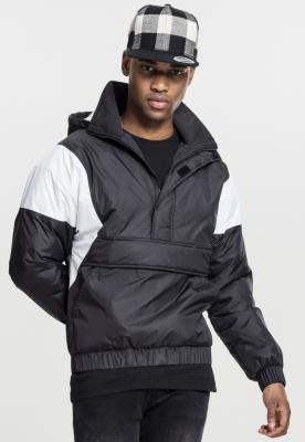 Jacheta Pulover doua culori negru-alb Urban Classics