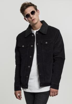 Jacheta Sherpa Corduroy negru-negru Urban Classics