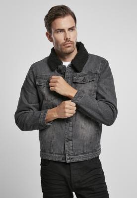 Jacheta Sherpa Demin negru-negru Brandit