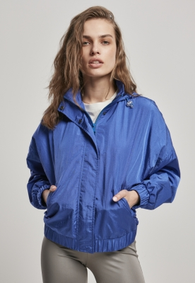 Jacheta supradimensionat Shiny Crinkle nailon pentru Femei sporty-albastru Urban Classics
