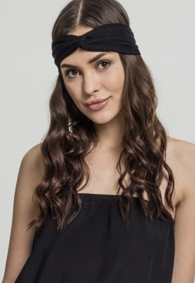 Jersey Bandana Hair-Band negru MasterDis