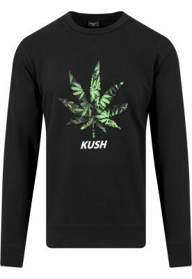 Bluze cu iarba barbati Kush negru Mister Tee