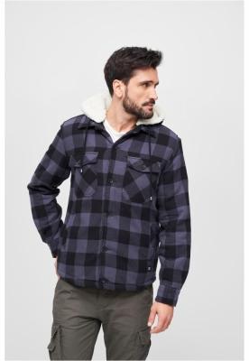 Lumberjacket cu gluga negru-gri Brandit