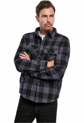 Lumberjacket negru-gri Brandit