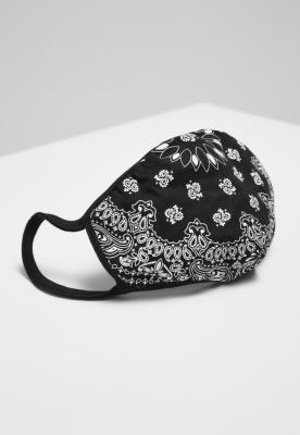 Masca fashion protectie Bandana negru-alb Mister Tee