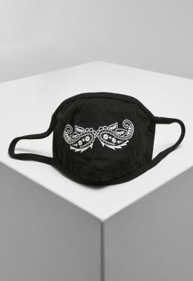 Masca fashion protectie Paisley Mustache negru Mister Tee