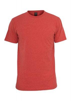 Tricou cu guler rotund Melange rosu Urban Classics
