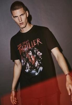 Michael Jackson Thriller Zombies negru Merchcode