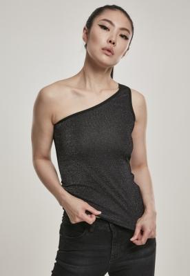 model asimetric Lurex Top pentru Femei argintiu Urban Classics