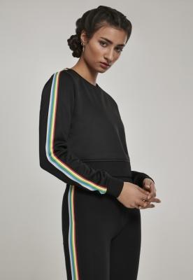 Multicolor Taped Sleeve Crewneck pentru Femei negru Urban Classics