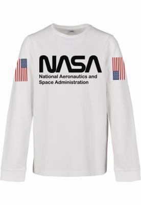 NASA Worm cu maneca lunga pentru Copii alb Mister Tee