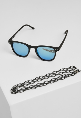 Ochelari de soare Arthur cu lant negru-albastru Urban Classics