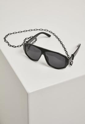 Ochelari de soare cu lant 101 negru-negru Urban Classics