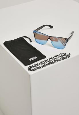 Ochelari de soare cu lant 103 negru-albastru Urban Classics