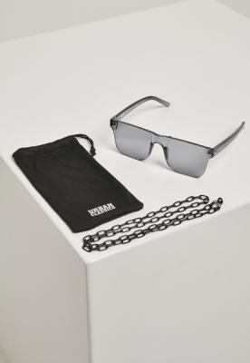 Ochelari de soare cu lant 105 negru-transparent Urban Classics