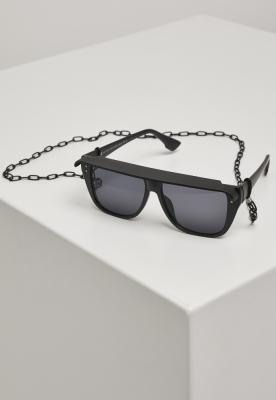 Ochelari de soare cu lant 108 Visor negru Urban Classics