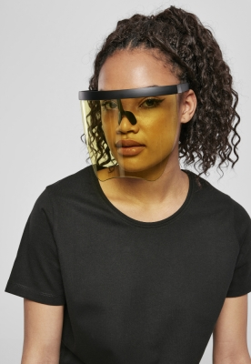 Ochelari de soare Front Visor negru-galben Urban Classics