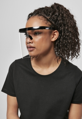 Ochelari de soare Front Visor negru-transparent Urban Classics