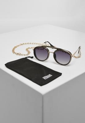 Ochelari de soare Ibiza cu lant negru-auriu Urban Classics