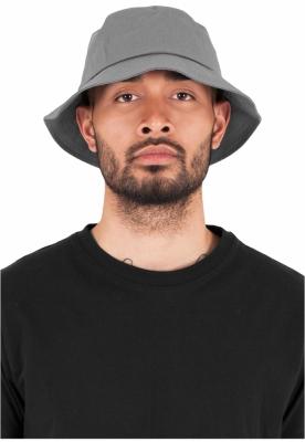 Palarie vara bumbac Flexfit Twill Bucket Hat barbati gri