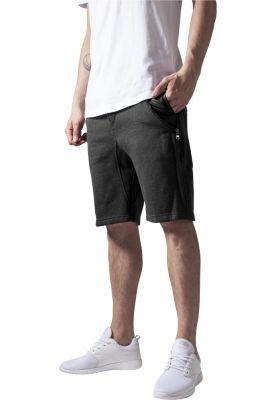 Pantalon scurt cu buzunare piele gri carbune-negru Urban Classics