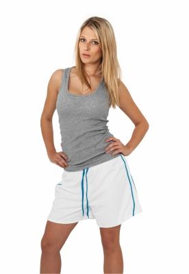 Pantalon scurt sport femei alb-turcoaz Urban Classics