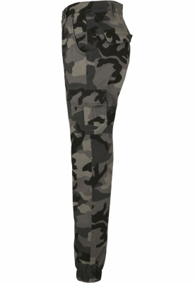 Pantaloni Cargo cu talie inalta Camo pentru Femei inchis-camuflaj Urban Classics