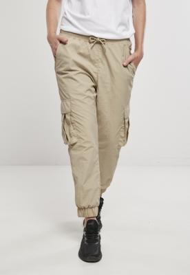 Pantaloni talie inalta Crinkle Nylon Cargo dama Urban Classics