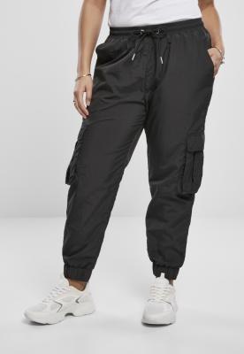 Pantaloni Cargo cu talie inalta Crinkle nailon pentru Femei negru Urban Classics
