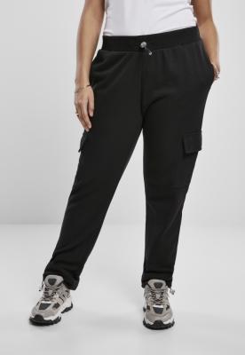 Pantaloni Cargo Terry pentru Femei negru Urban Classics