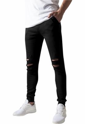 Pantaloni casual cu taieturi la genunchi negru Urban Classics