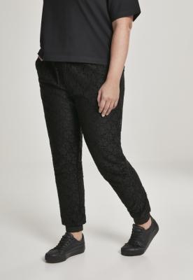 Pantaloni casual dantela pentru Femei negru Urban Classics