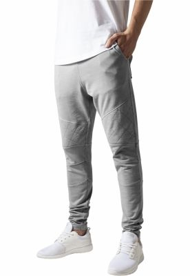 Pantaloni conici cu cusaturi in zona genunchilor gri Urban Classics