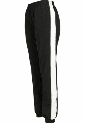 Pantaloni cu dungi Crinkle pentru Femei negru-alb Urban Classics