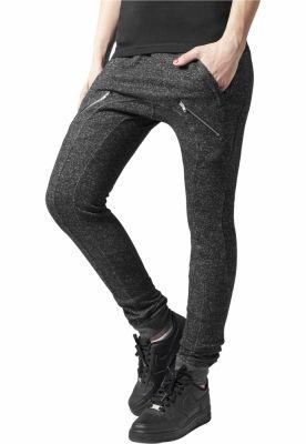 Pantaloni dama trening cu fermoare negru-gri Urban Classics