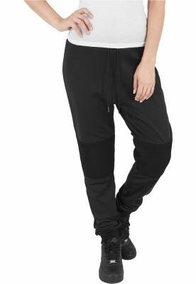Pantaloni jogging scuba cu plasa la genunchi