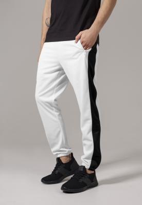 Pantaloni de trening alb-negru Urban Classics
