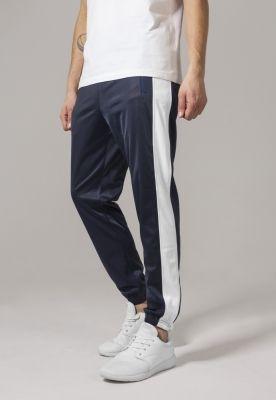 Pantaloni de trening bleumarin-alb Urban Classics