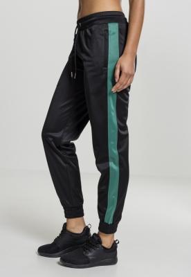 Pantaloni de trening Cuff pentru Femei negru-verde Urban Classics