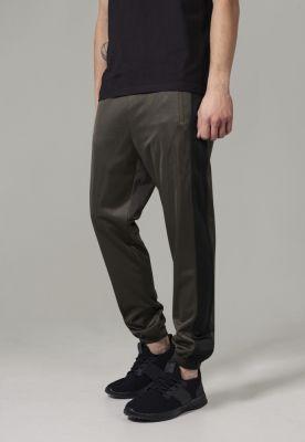 Pantaloni de trening oliv inchis-negru Urban Classics