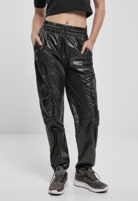 Pantaloni de trening Shiny Cargo pentru Femei negru Urban Classics