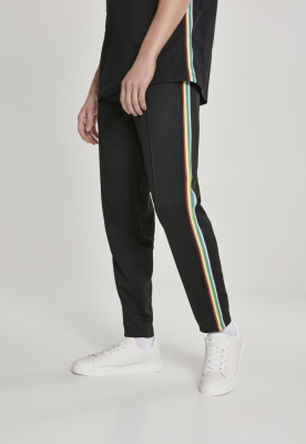 Pantaloni de trening Side Taped negru-multicolor Urban Classics
