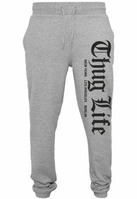 Pantaloni sport Thug Life Cities gri Mister Tee