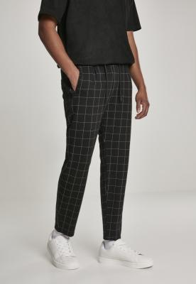 Pantaloni deasupra gleznei carouri Formula negru-alb Urban Classics