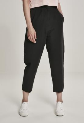 Pantaloni deasupra gleznei cu talie inalta pentru Femei negru Urban Classics