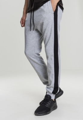 Pantaloni doua culori InterlockTrack gri-negru Urban Classics