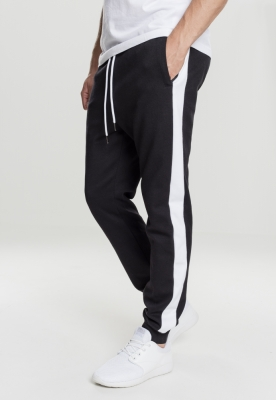 Pantaloni doua culori InterlockTrack negru-alb Urban Classics